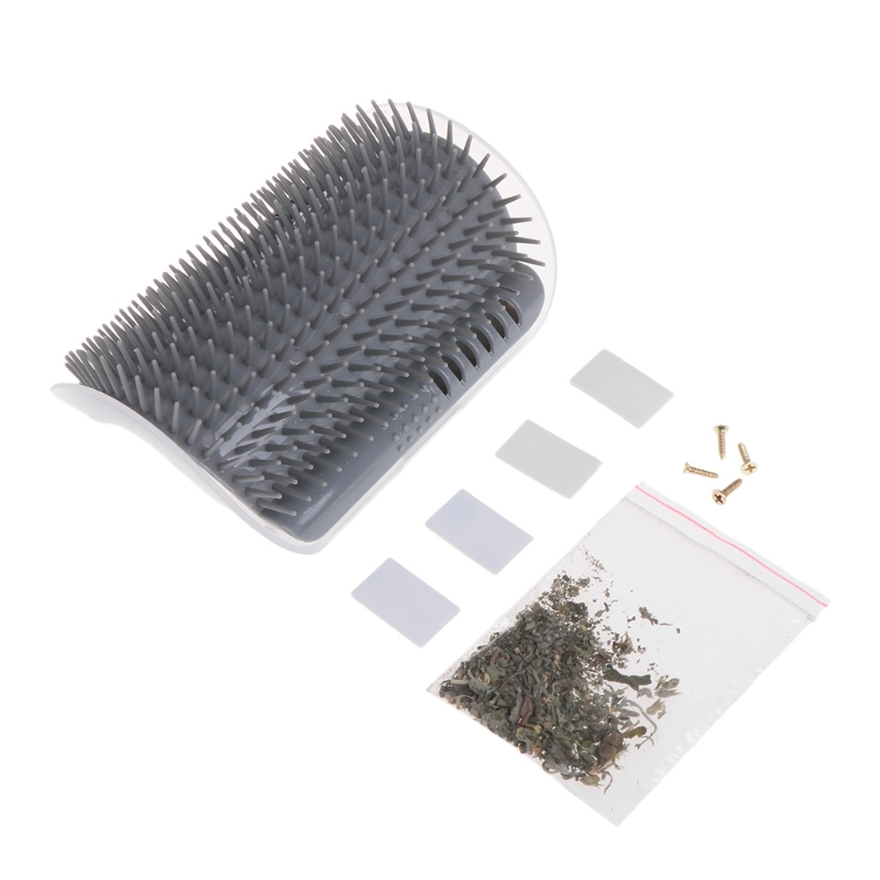 Cat Self Groomer Pets Hair Removal Tool Auto Massage Brush Comb With Catnip Dogs