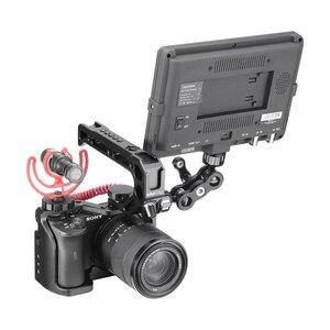Image 2 - กรอบอลูมิเนียมป้องกันVlogการถ่ายภาพกล้องสำหรับSony A6600 พร้อมที่จับ 1/4 3/8 สกรูสำหรับไฟLEDไมโครโฟน