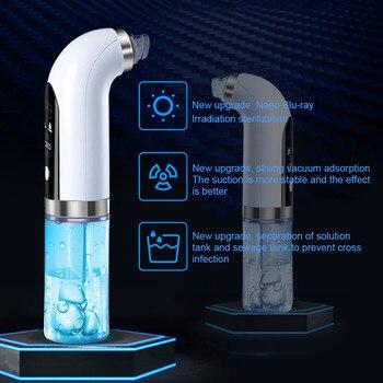 Eliminador de espinillas de microburbuja, dispositivo eléctrico de limpieza de poros y nariz, recargable por succión al vacío, pequeño acné del poro 1