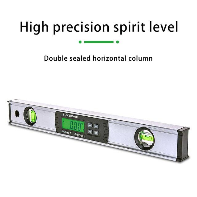 דיגיטלי מד זוית זווית Finder אלקטרוני רמת 360 תואר Inclinometer עם מגנטים רמת זווית מדרון tester שליט 400mm