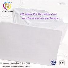 Mfare 1k iso14443a clone mfs50 qualidade superior 13.56mhz hf ic smart nfc cartão de proximidade rfid microchip para impressora de cartões