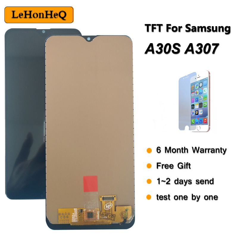 TFT LCD For <font><b>Samsung</b></font> <font><b>A30S</b></font> <font><b>Display</b></font> For <font><b>samsung</b></font> galaxy <font><b>A30S</b></font> A307 A307F A307FN/DS LCD <font><b>Display</b></font> touch screen digitizer assembly image
