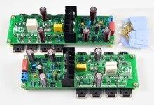 2 pces ljm hi end ultra baixa distorção amplificador de som kits diy e placas terminadas para l20.5 canais duplos amplificadores de áudio
