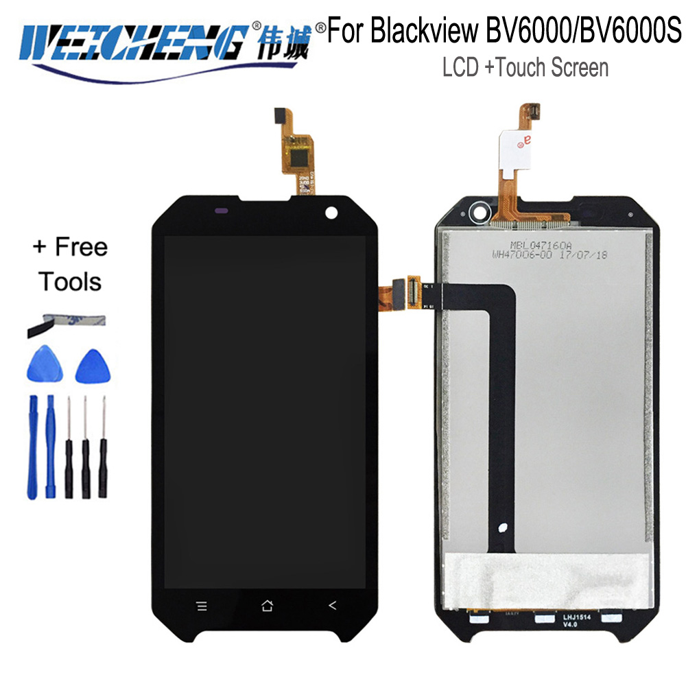 4.7 inch <font><b>LCD</b></font> For Blackview <font><b>BV6000</b></font> <font><b>LCD</b></font> Display+Touch Screen 100% Tested Screen Digitizer Assembly Replacement BV6000S image