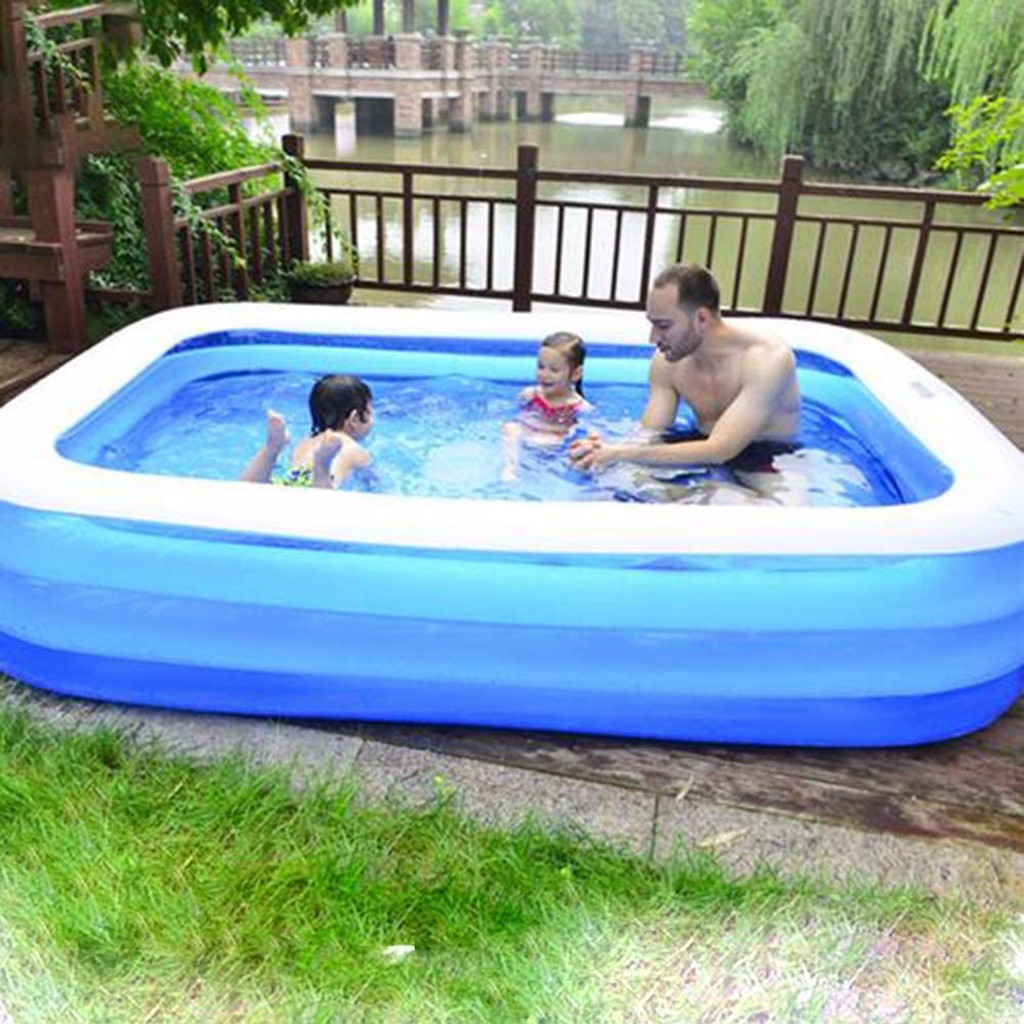 Inflatable Swimming Pools For Kids Pool High Quality Children's Family Home Use Paddling Large Size Inflatable Square Swimming
