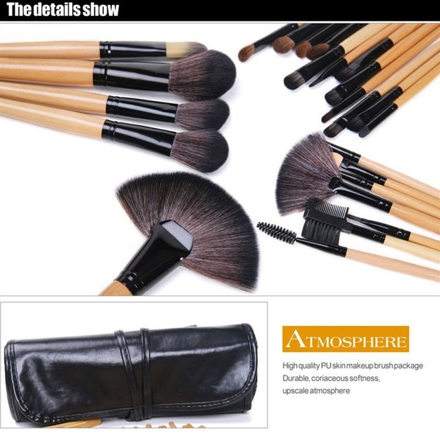 Gift Bag Of  24 pcs Makeup Brush Sets Professional Cosmetics Brushes Eyebrow Powder Foundation Shadows Pinceaux Make Up Tools 4