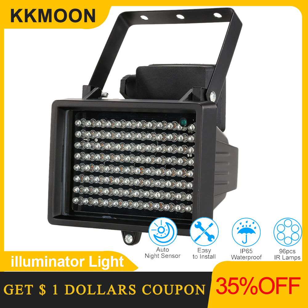 96 led iluminador luz cctv 60m ir infravermelho visão noturna iluminação auxiliar ao ar livre à prova dwaterproof água para câmera de vigilância