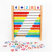 Montessori Wooden Bead Abacus Rack Educational Toys Wooden Math Teacher Teaching Aids Children's Toys Early Learning Aids