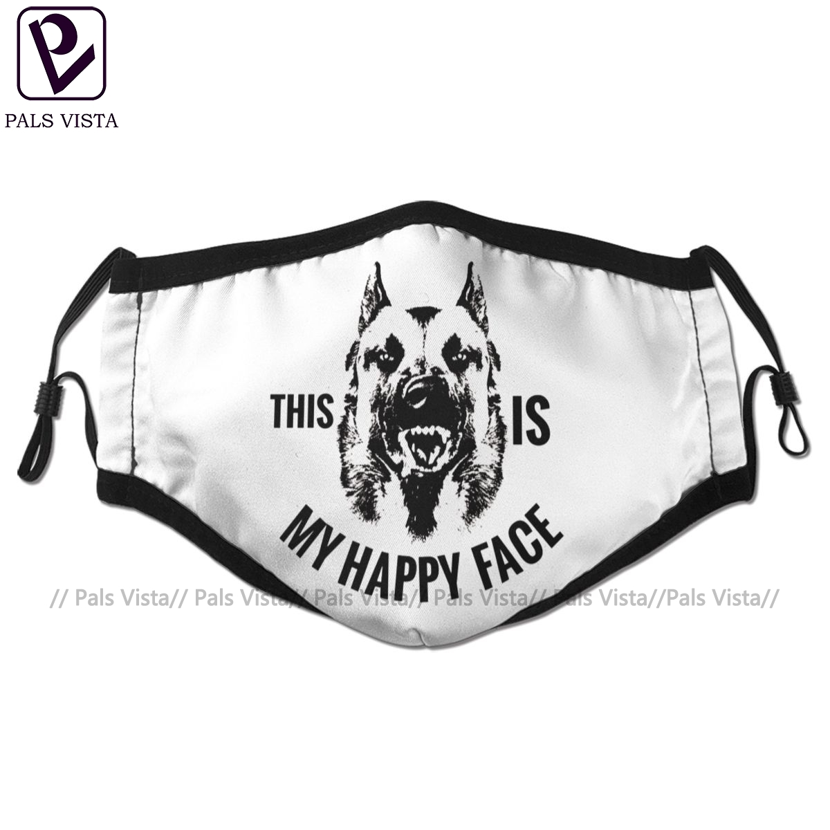 Malinois Mouth Face Mask Belgian Shepherd Malinois Facial Mask Cool Kawai With 2 Filters For Adult