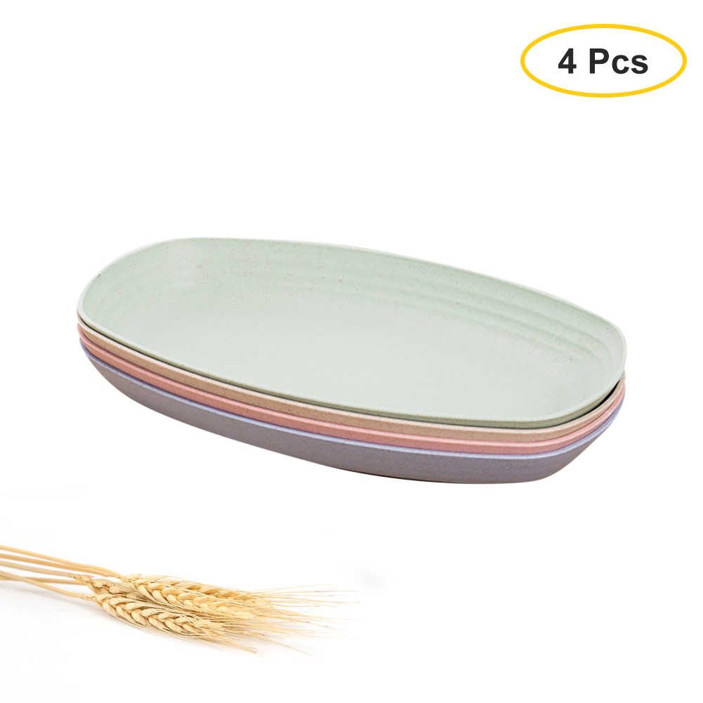 Wheat Straw Plastic Plates Dinnerware