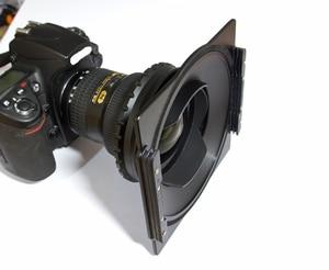 Image 3 - אלומיניום 150mm כיכר מסנן בעל סוגר תמיכה Samyang 14mm 2.8 עדשת תואם עבור לי הייטק Haida 150 סדרת מסנן