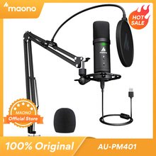 MAONO micrófono PM401 con conector de Audio, micrófono profesional condensador cardioide, Podcast, 192KHz/24 bits