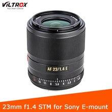 Viltrox 23mm f1.4 lente de foco automático APS-C compacto grande abertura lente para sony e-mount câmera a6100 a6500 a7rii a7iii a7riii a7riv