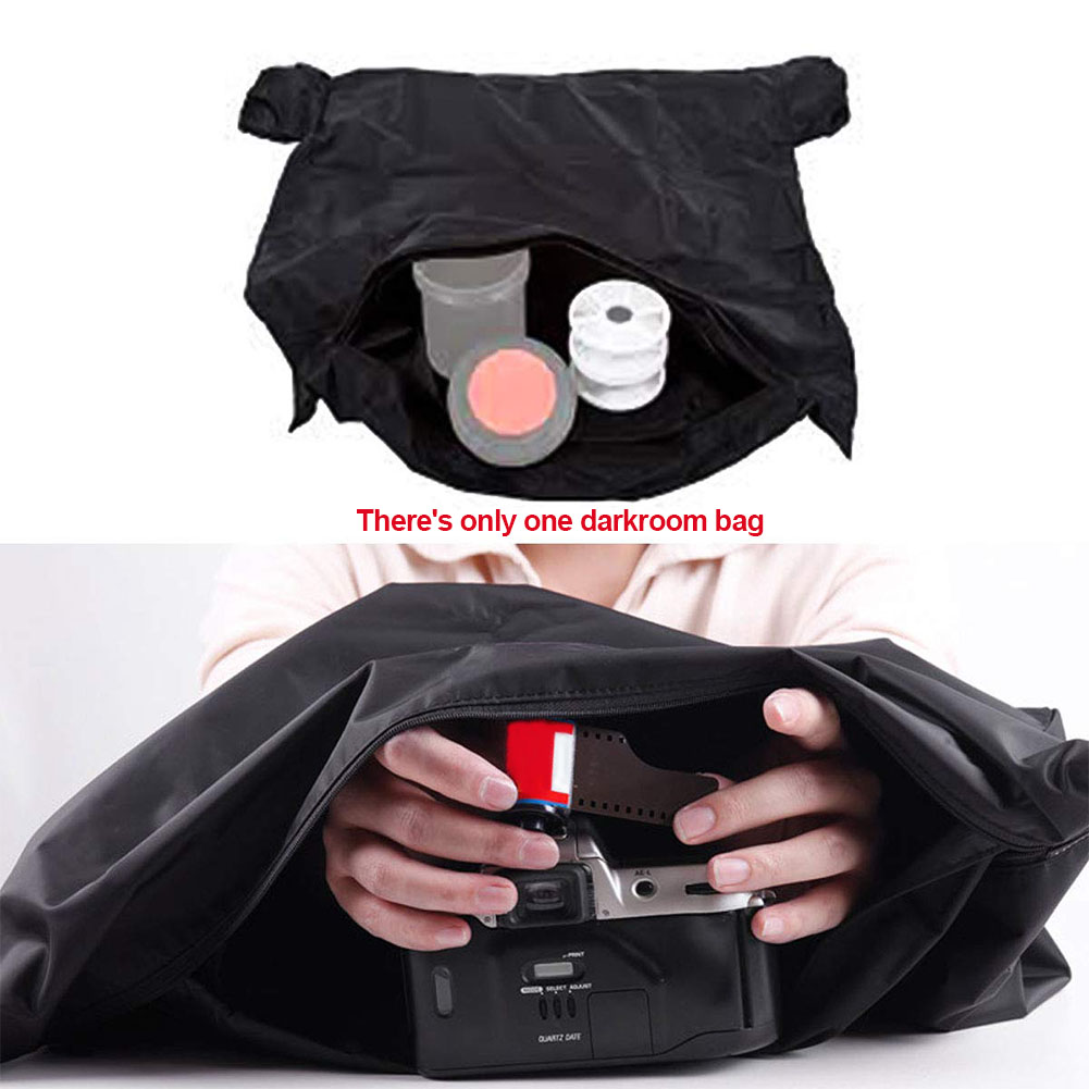 Portable Developing Dual Layer Light-proof Anti Static Zipper Practical Darkroom Bag Film Changing Professional Photography