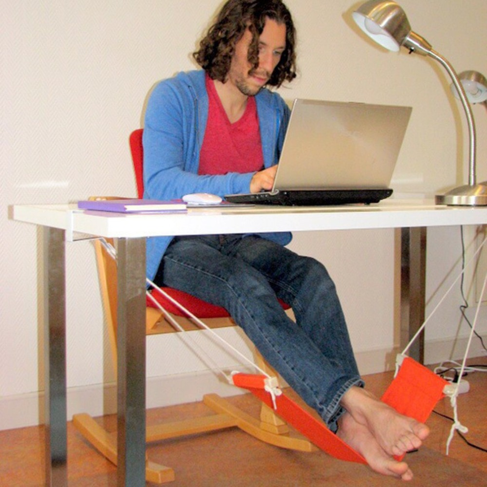 Portable Office Leisure Home Office Foot Rest Desk Feet Hammock Surfing The Internet Hobbies Outdoor Rest Dropshipping|  - title=