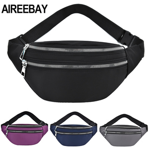 AIREEBAY 2020 New Fanny Pack For Women Waterproof Waist Bags Ladies Fashion Bum Bag Travel Crossbody Chest Bags Unisex Hip Bag