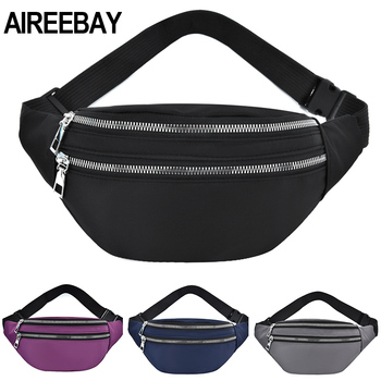AIREEBAY 2020 New Fanny Pack For Women Waterproof  Waist Bags Ladies Fashion Bum Bag Travel Crossbody Chest Bags Uni Hip Bag