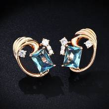 2 color 585 rose gold zircon color ladies earrings holiday gifts wedding jewelry anniversary gift fashion exquisite(China)