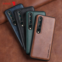 X-Level Leather Case For Xiaomi Mi 10 Pro 5G Soft Silicone Edge Shockproof Back Phone Cover For Xiaomi Mi 10 Case Coque