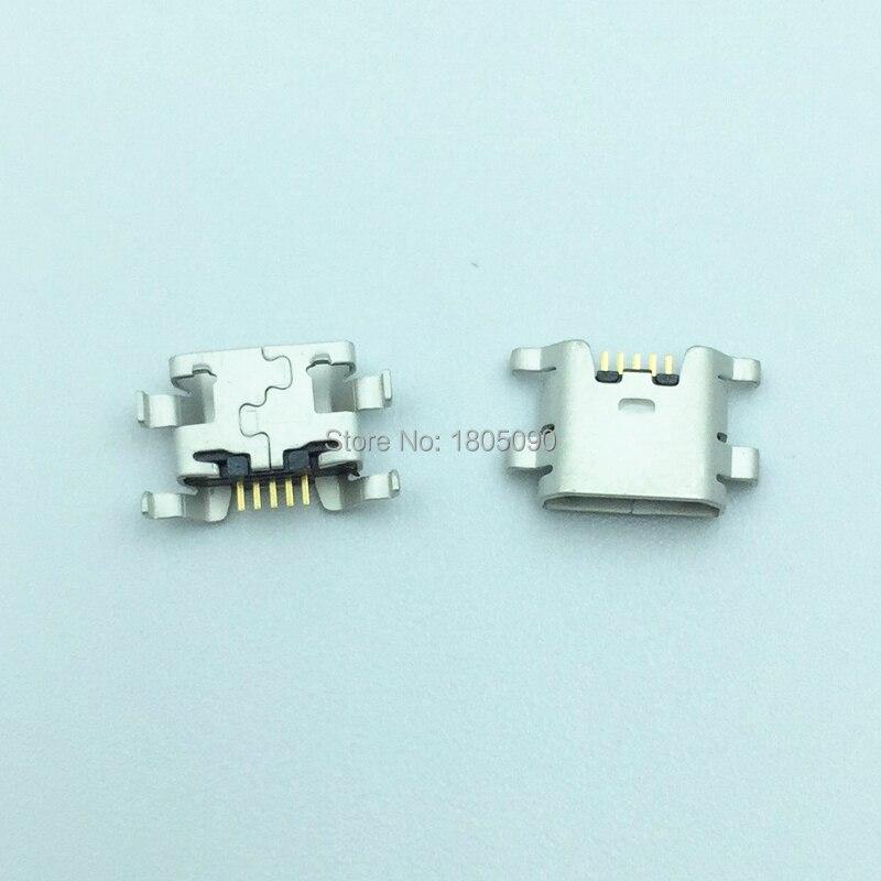 100pcs Micro USB 5pin Mini Connector Mobile Charging Port For ZTE Blade L2 S6 5.0 U807 N983 N807 U956 N5 N909 N798 N980 N986
