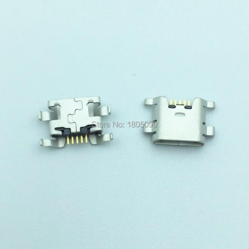 50pcs Micro 5pin mini Conector USB porto de Carregamento Móvel Para ZTE Lâmina L2 S6 5.0 U807 N983 N807 U956 N5 N909 N798 N980 N986