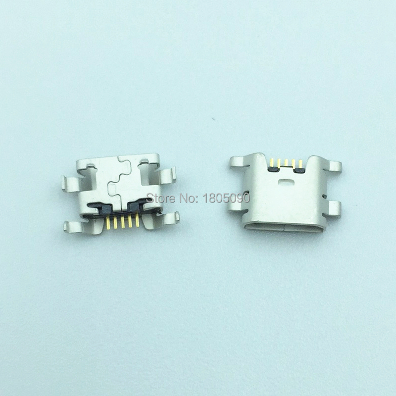 50pcs Micro USB 5pin Mini Connector Mobile Charging Port For ZTE Blade L2 S6 5.0 U807 N983 N807 U956 N5 N909 N798 N980 N986