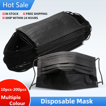 10-100pcs Mask Disposable Nonwove 3 Layer Ply Filter Mask mouth Face mask filter safe Breathable Protective masks Fast Shipping
