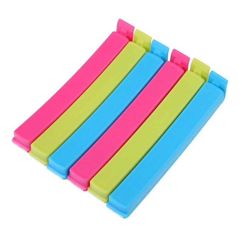 Creative Food Snack Seal Sealing Clips Plastic Bag Clips Portable Storage Sealer Clamp Keep Fresh Sealing Storage Bag Clips New