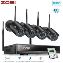 ZOSI H.265 1080P 8CH Drahtlose Sicherheit CCTV Kamera System 1080P Wifi Mini NVR Kit Outdoor Video Überwachung Home IP Kamera Set
