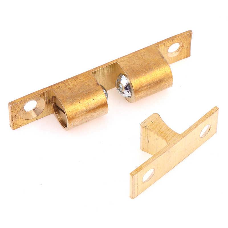 1 set Door lock door touch latch cabinets interlock switch chassis cabinet spring ball locker adjustable brass door buckle
