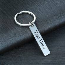 Key-Chain Private Love-Care Personalized Father's-Day-Gifts Stainless-Steel Custom