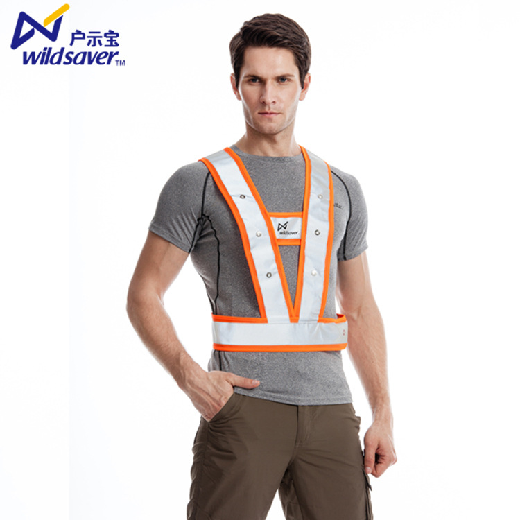 Led Reflective Vest Shining Sea Land Logistics Transportation Reflective Waistcoat Seafarers Work For Help Work Clothes