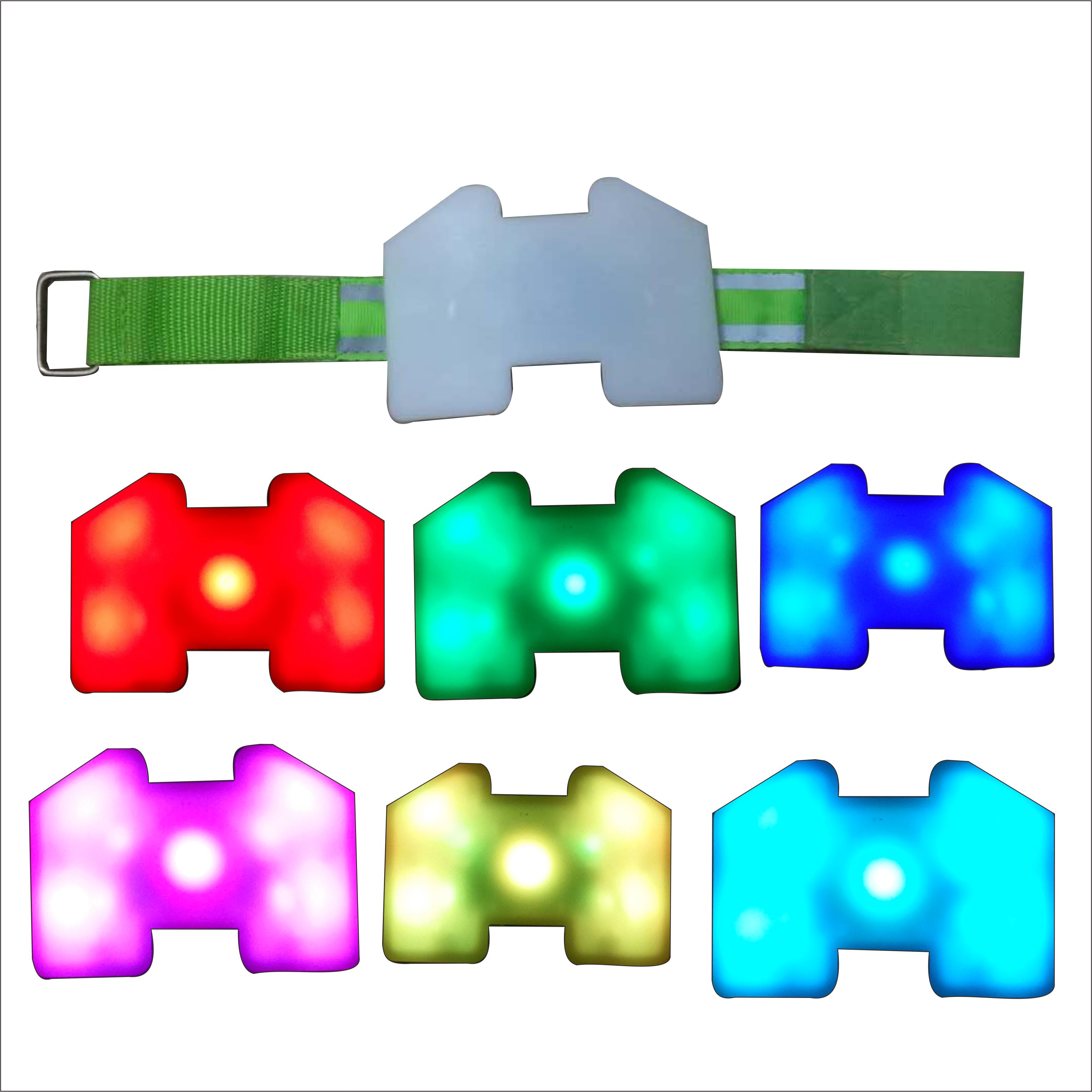 LED Reflective Light Arm Armband Strap Safety Belt For Night Running Cycling Hand Strap Wristband Wrist Bracelets in Glow Party Supplies from Home Garden