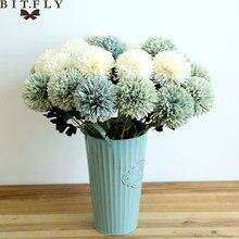 Fausses fleurs de pissenlit, 1 pièce, fausses boules, pour un mur, pour une décoration de maison, pour un mariage, haute qualité