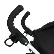 2PCS Universal Baby Stroller Hook Wheelchair Stroller Hanging Bag Hanger Cart Shopping Bag Clip Baby Stroller Accessories