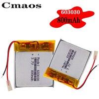 Wiederaufladbare 603030 3,7 V 800mAh Lithium Li-Po Polymer Batterie Batterien li-ion Bateria Für GPS MP3 MP4 Spielzeug bluetooth Headset