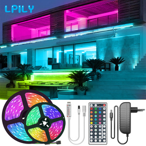 RGB LED Strip Light SMD2835 5050 5M 10M non Waterproof Led Tape DC12V Ribbon diode led lights Strip Lamp with IR Remote Control