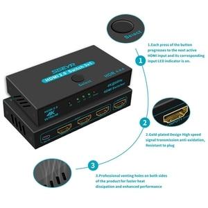 Image 3 - SGEYR HDMI 2.0 commutateur 3x1 4K @ 60Hz 3 ports HDMI commutateur 3 en 1 avec télécommande IR HDMI 2.0 HDCP 2.2 pour XBOX PS3/4 HDTV