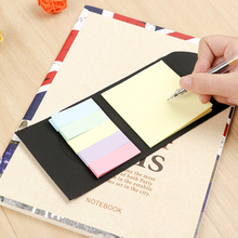 100pcs /pack Kraft Black Paper Cover Memo Pad Sticky Notes Stationery Sticker Planner Stickers Notepads Office School Supplies