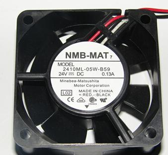 For NMB 2410ML-05W-B59 DC 24V 0.13A 6025 60x60x25mm 60mm Server Inverter Axial Cooler Blower Cooling Fans