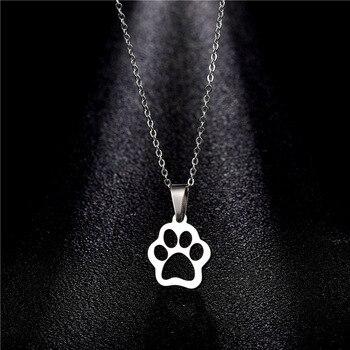 Dog Cute Footprints Necklaces 3
