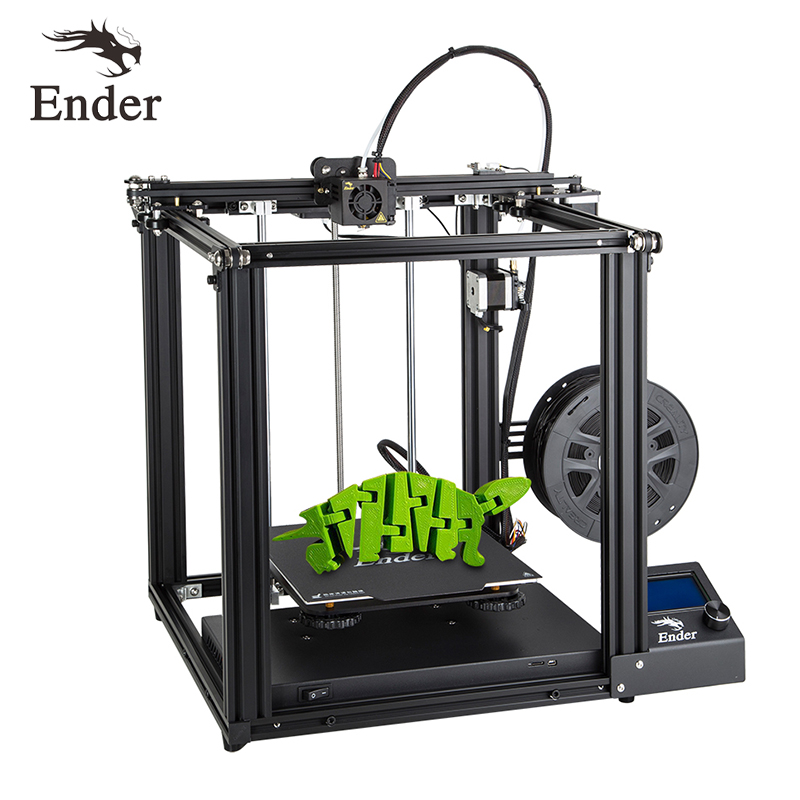 Impressora 3d de alta precisão Ender-5 grande tamanho cmagnetic construir placa, desligar currículo fácil biuld creality 3d filamentos + viveiro + sd