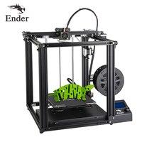 Impressora 3d de alta precisão Ender 5 grande tamanho cmagnetic construir placa  desligar currículo fácil biuld creality 3d filamentos + viveiro + sd|3d printer|printer 3d|prusa i3 -