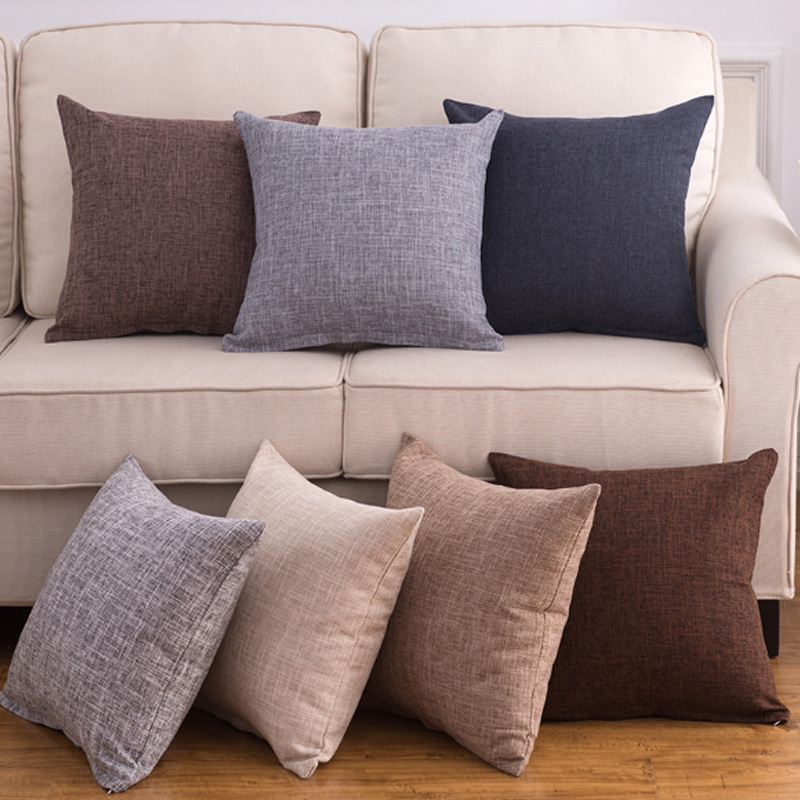 Popular For Car Solid Sofa Cushion Cover Chair Decoration Cushion Cover Seat 1PC Throw Pillow Case