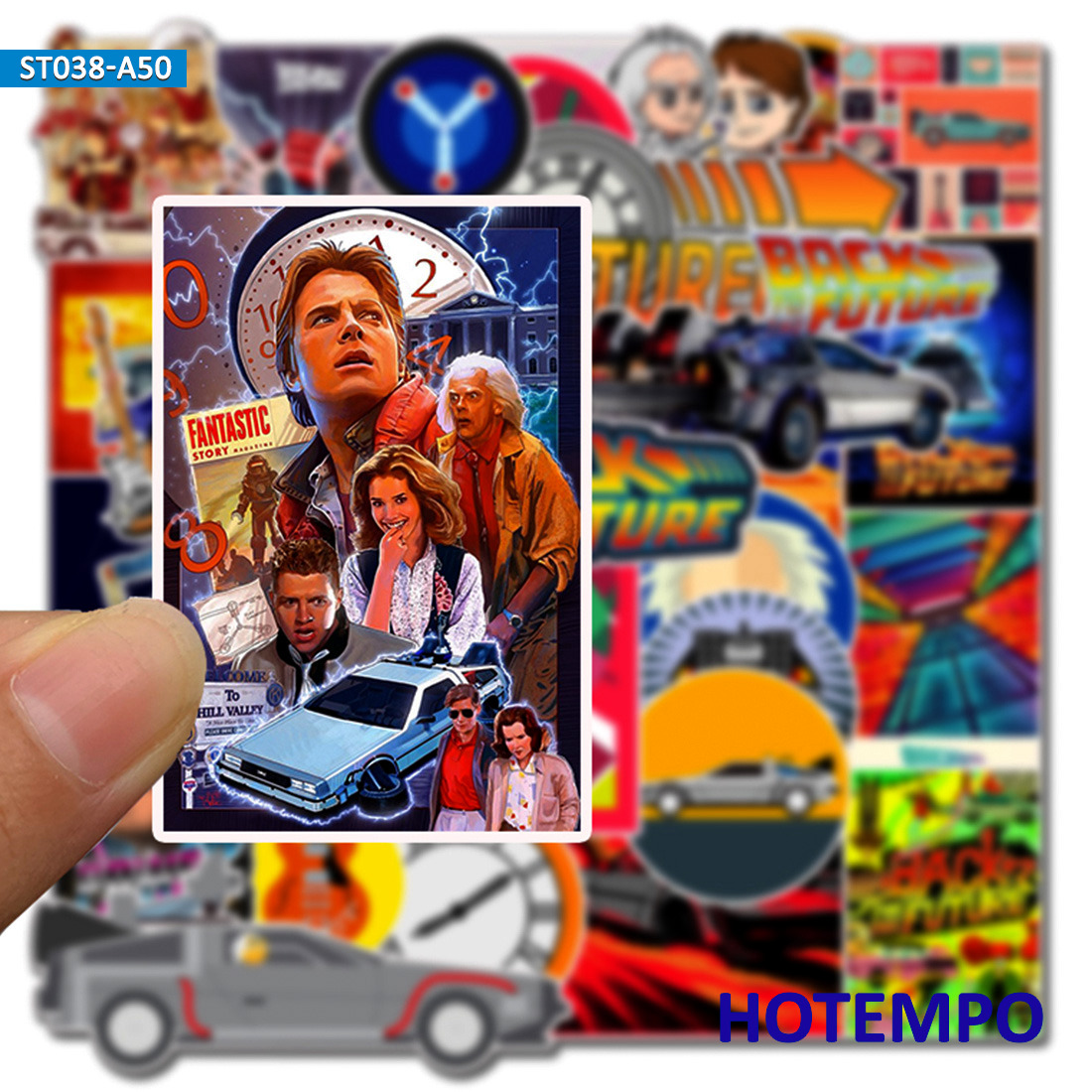 50pcs Classic Movie Back To The Future Stickers For Mobile Phone Laptop Luggage Case Skateboard Bike Helmet Style Decal Stickers