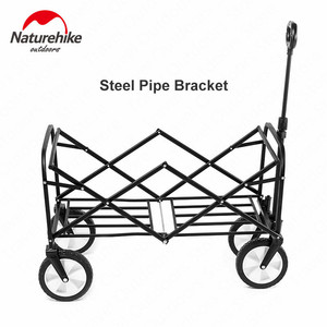 Image 3 - Naturehike 9.3kg Foldable Luggage Trolley Hollow Steal Pipie Double Layers 90L Large Capacity Shopping Trolley Fast Folding