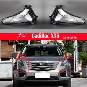 Image 1 - 자동차 헤드 라이트 렌즈 캐딜락 XT5 2016 2017 2018 헤드 램프 커버 교체 자동 쉘 밝은 램프 그늘 쉘 캡 갓