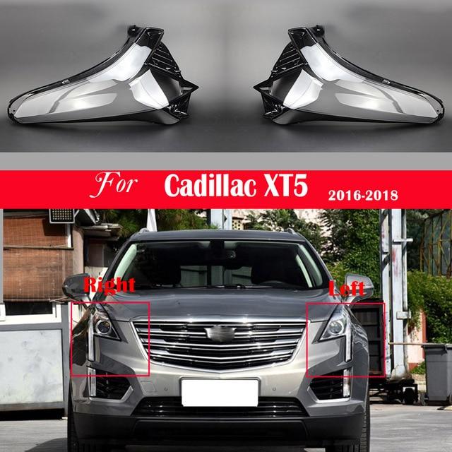 자동차 헤드 라이트 렌즈 캐딜락 XT5 2016 2017 2018 헤드 램프 커버 교체 자동 쉘 밝은 램프 그늘 쉘 캡 갓