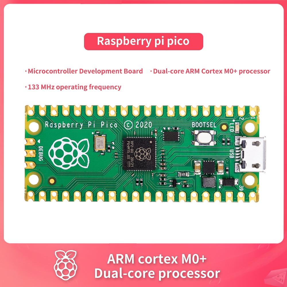 Placa de desenvolvimento oficial nova do microcontrolador do pico da framboesa pi, processador do córtex m0 + do braço do duplo-núcleo, frequência de funcionamento de 133 mhz