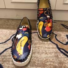 Plus tamanho 35-47 sapatos planos para homens luxo designer spikes sapatos de couro masculino vestido de casamento baile de formatura zapatos de novio